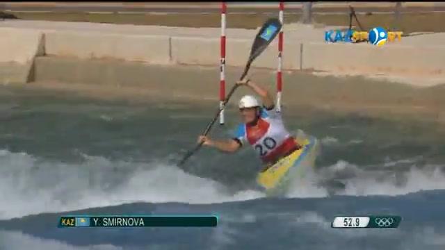 Казахстанка Екатерина Смирнова не смогла пройти в полуфинал гребного слалома (ВИДЕО)