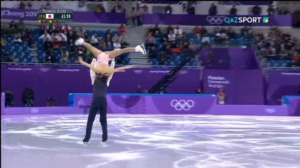 ОЛИМПИАДА-2018. ФИГУРНОЕ КАТАНИЕ (Командное соревнование. Танцы на льду, женщины, короткая программа. Пары, произвольная программа) 2-бөлім