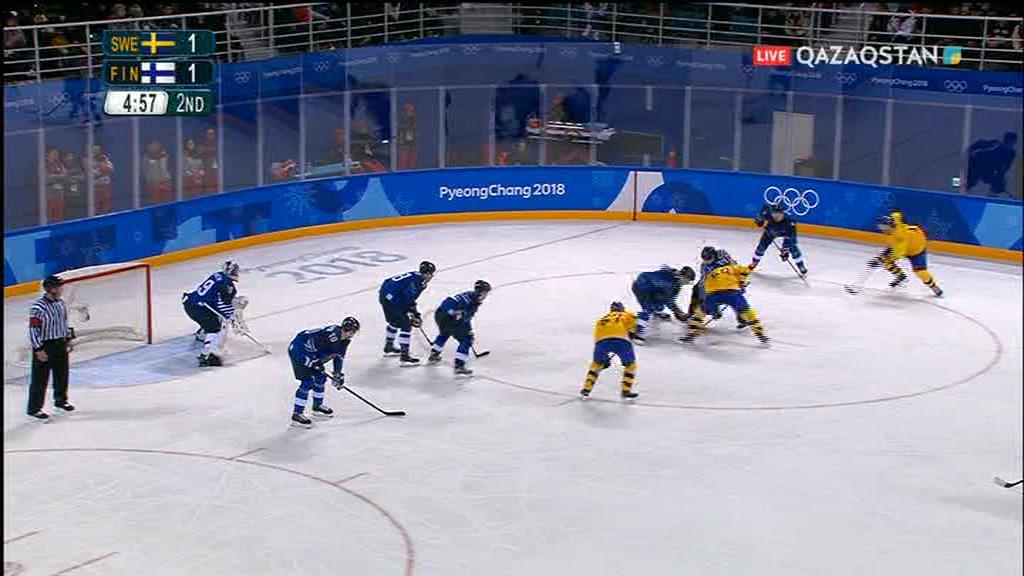 Олимпиада-2018. Хоккей. Швеция-Финляндия. Ерлер, Топтық кезең (Толық нұсқа)