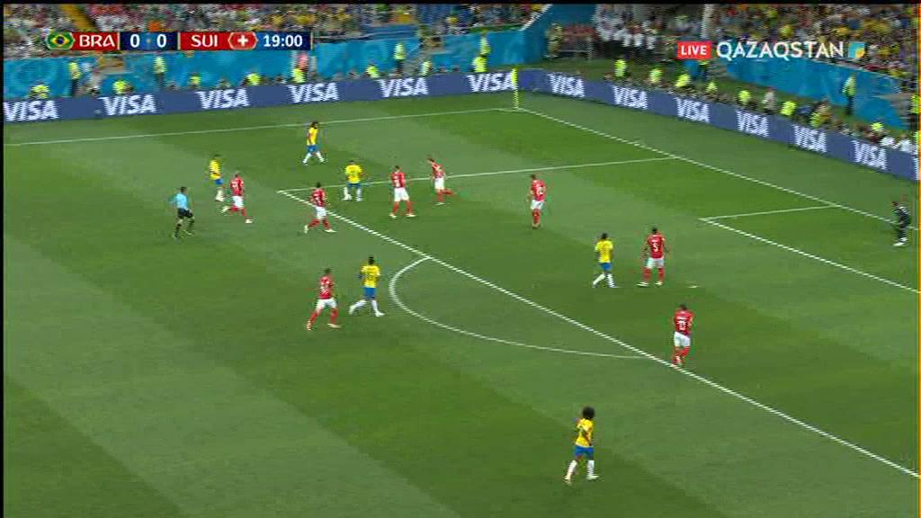 Бразилия-Швейцария - 1-1. Жанкүйерлер күтпеген сәттер (шолу)