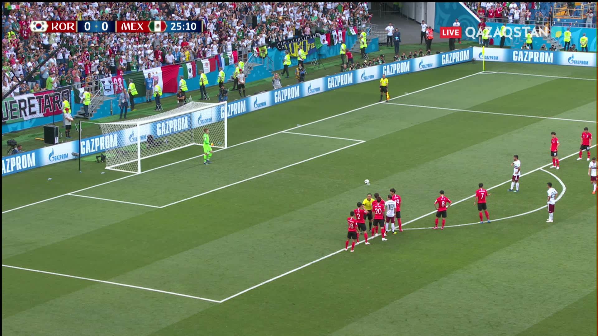 Оңтүстік Корея – Мексика  0 – 1 . Карлос Вела пенальтиден мүлт кетпеді