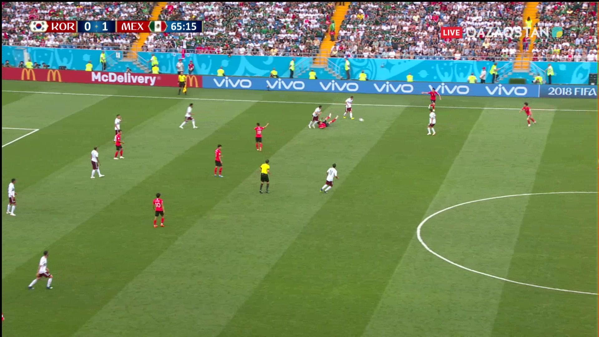 Оңтүстік Корея – Мексика  0 – 2 . Чичаритоның голы Мексика құрамасының басымдығын үстемдей түсті