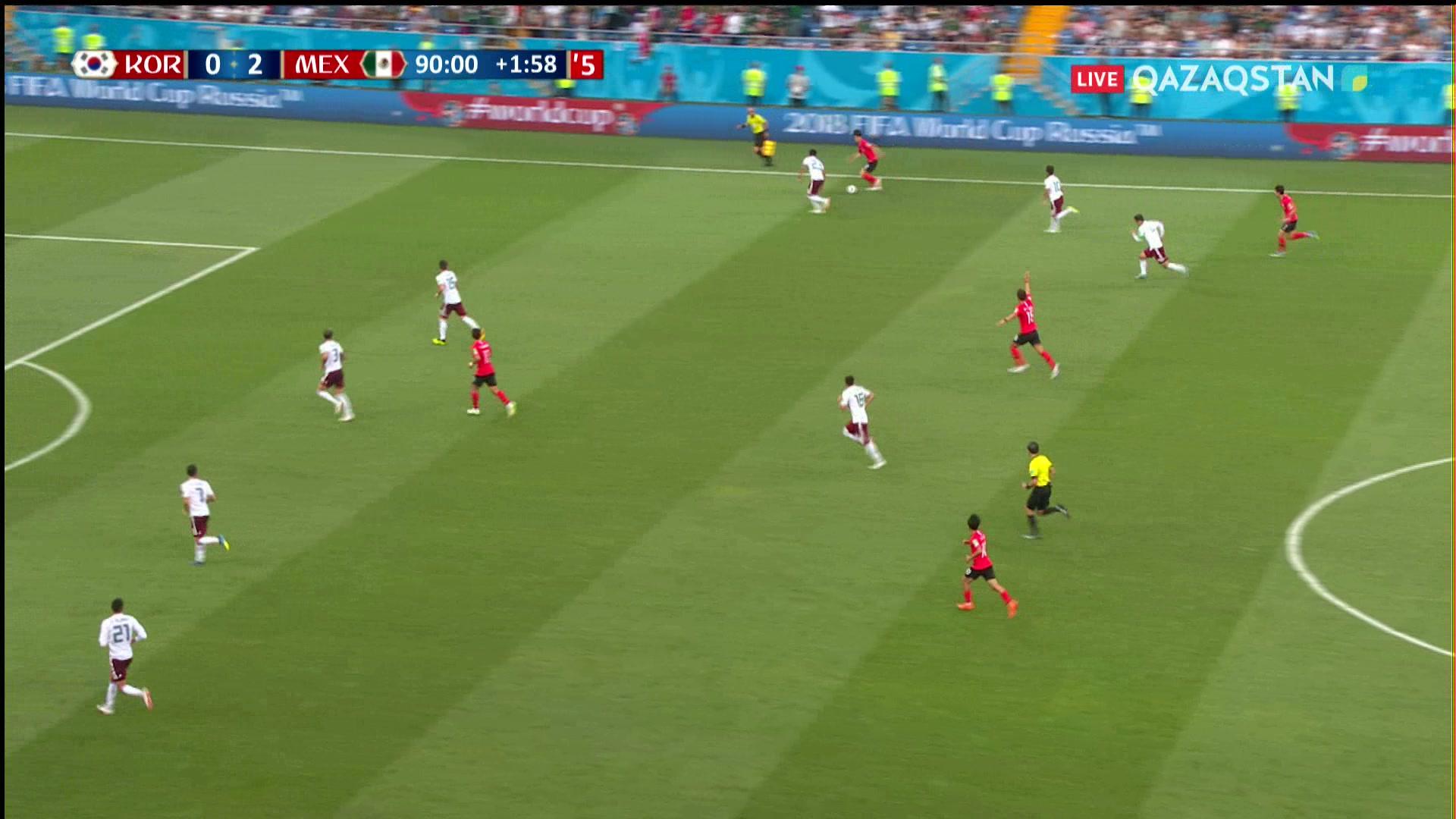 Оңтүстік Корея – Мексика  1 – 2 . Сон Хын Минның голы есепті қысқартты