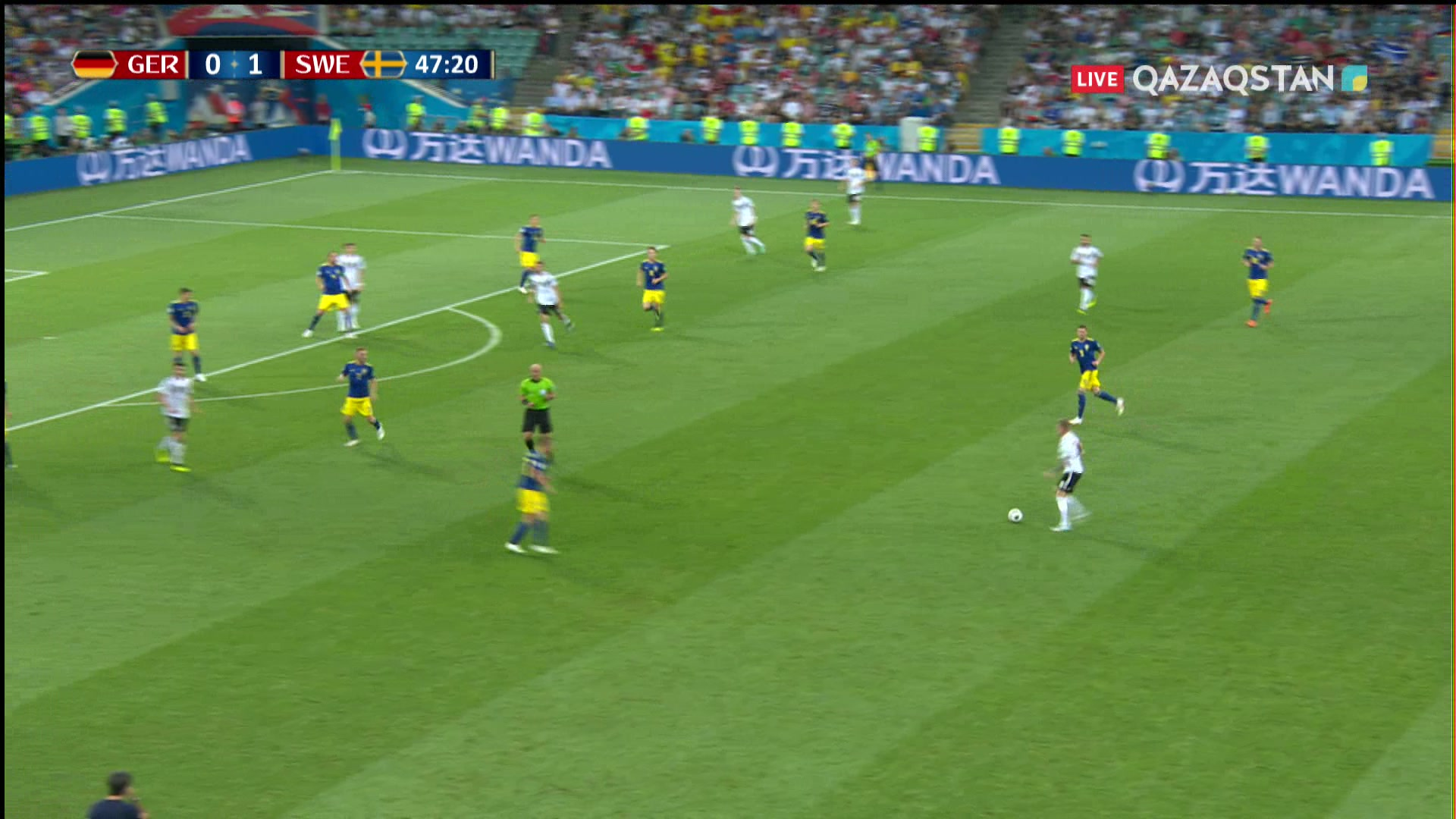 Германия - Швеция |1 – 1|.  Марко Ройстың голы Германия құрамасының плей-офф кезеңіне үміт сыйлады