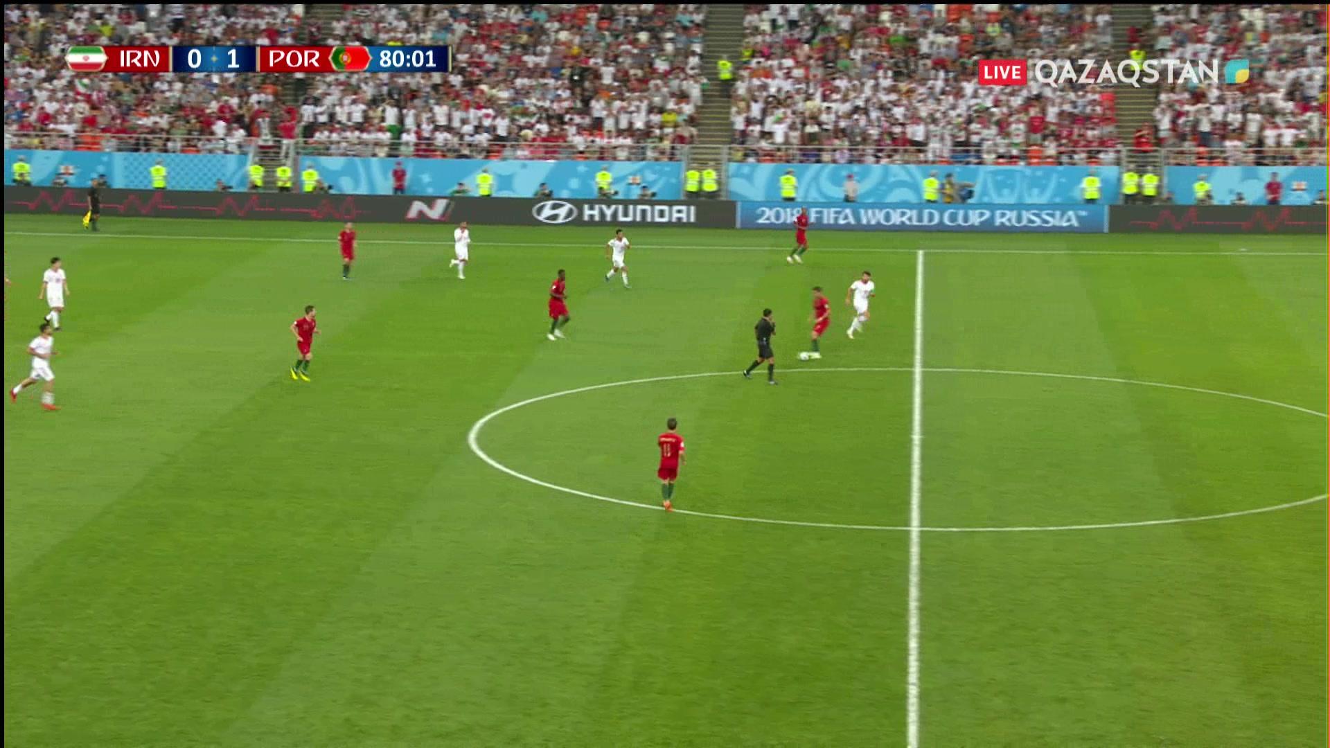 Иран – Португалия: Роналду сары қағаз алды