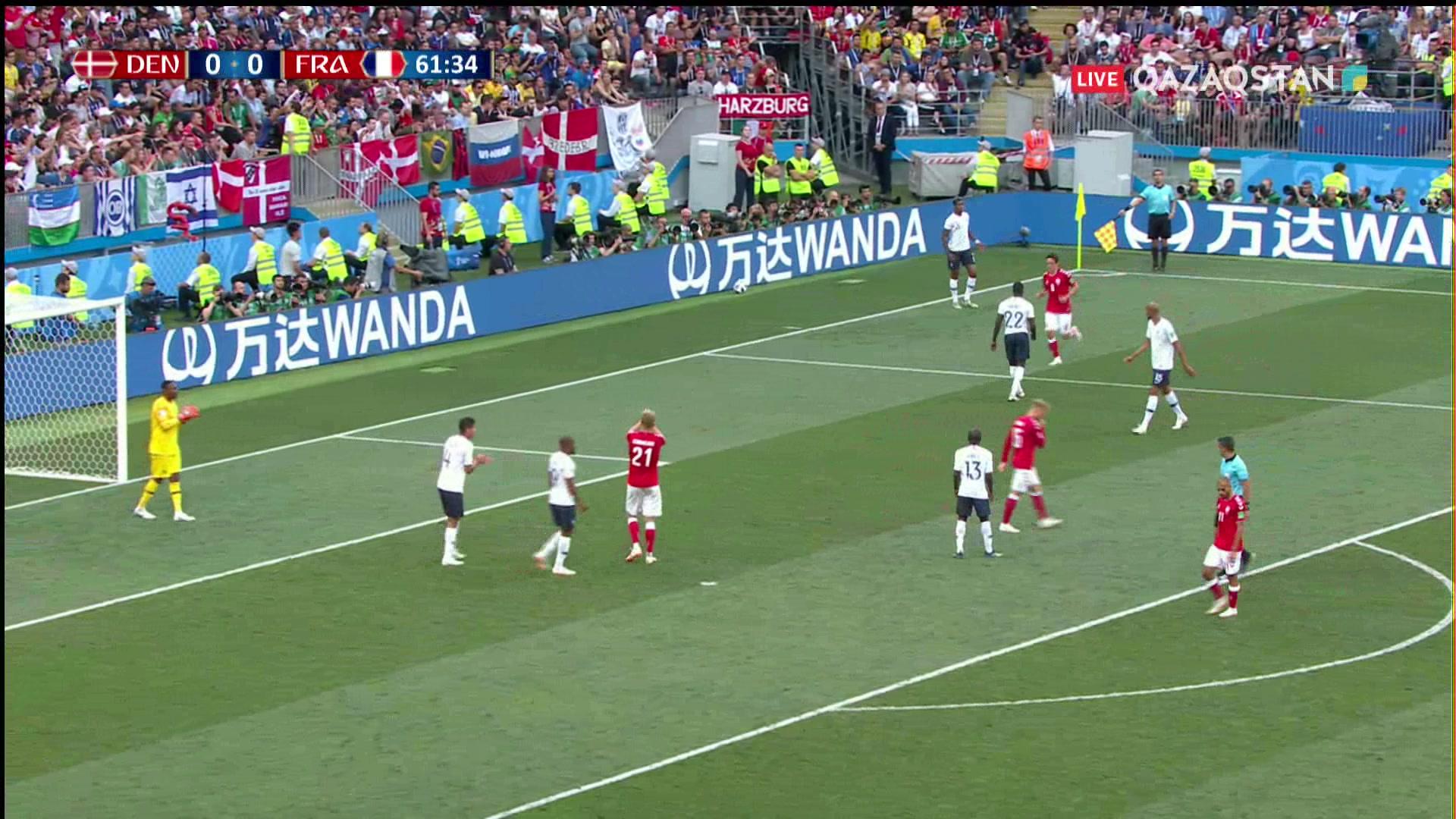 26.06.2018 - Футбол. Әлем чемпионаты - 2018. Дания – Франция (Толық нұсқа)