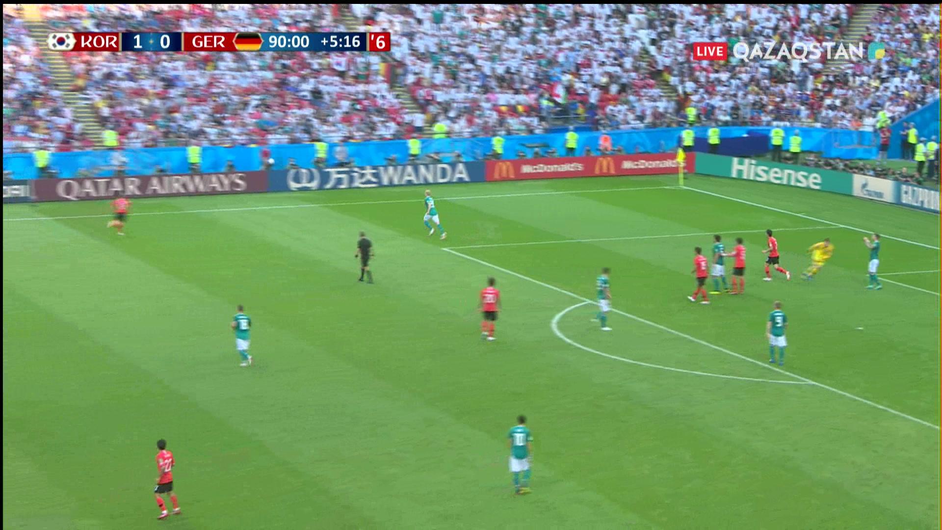 Оңтүстік Корея – Германия - 2:0 | Әлем Чемпионаты 2018