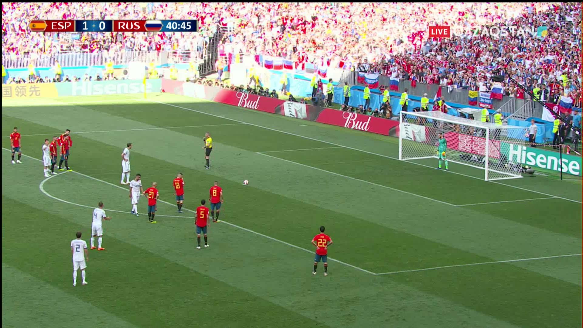 Испания – Ресей – 1:1 | Әлем Чемпионаты 2018: Артем Дзюба пенальтиден есепті теңестірді