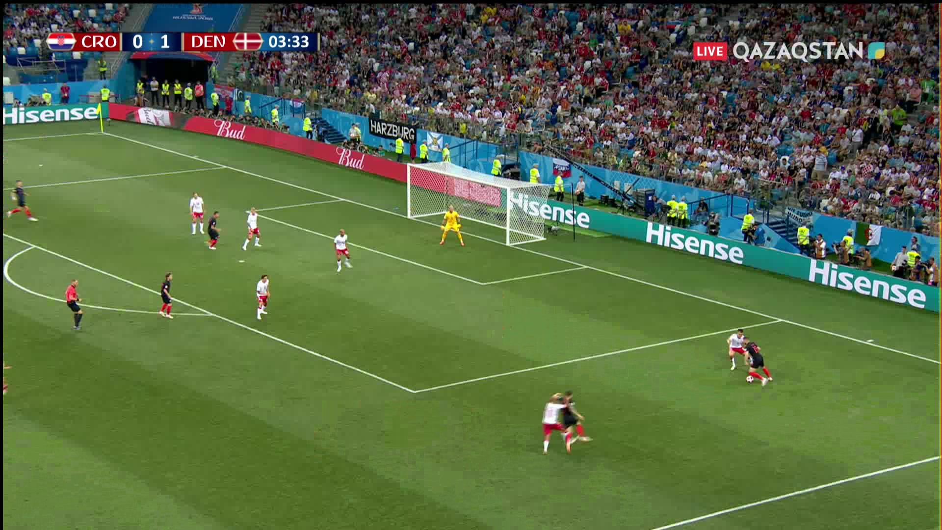 Хорватия – Дания – 1:1 | Әлем Чемпионаты 2018