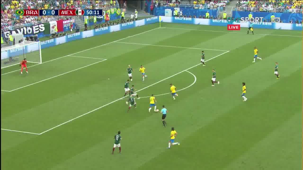 Бразилия - Мексика. Гол Неймар