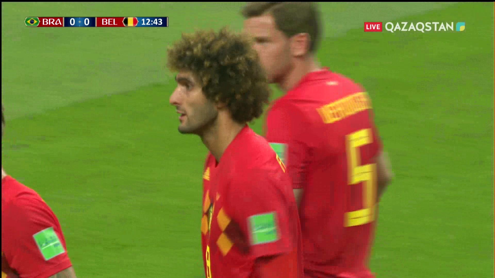 Бразилия – Бельгия - 0:1 | Әлем Чемпионаты 2018:  13* Фернандиньо өз қақпасына гол салып алды