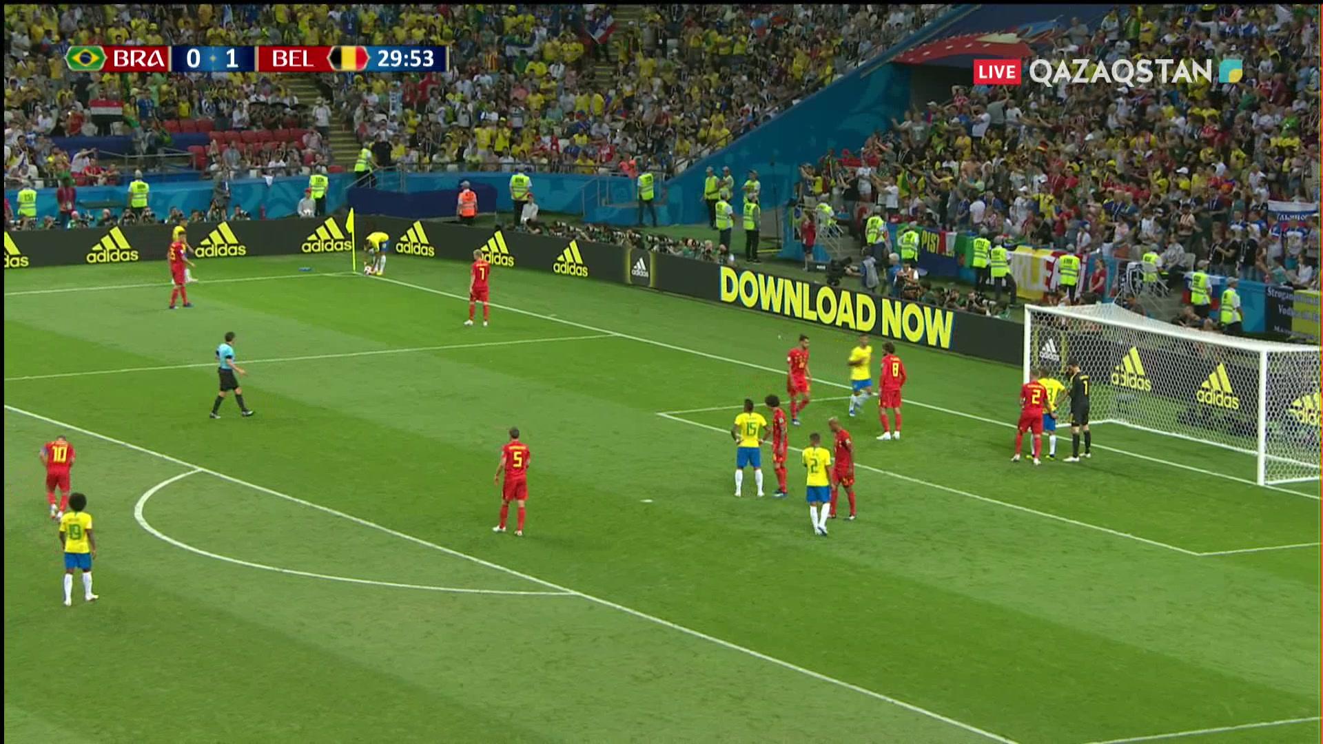 Бразилия – Бельгия - 0:2 | Әлем Чемпионаты 2018:  31* Де Брюйне есепті еселей түсті
