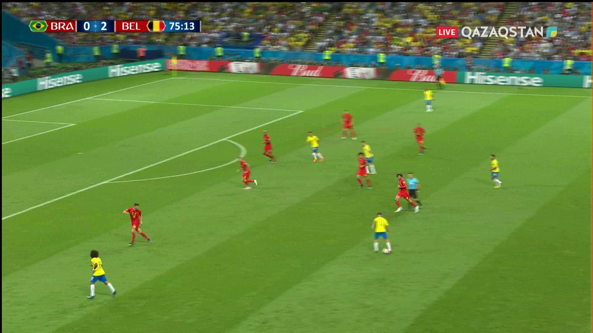 Бразилия – Бельгия - 1:2 | Әлем Чемпионаты 2018:  76* Ренато Аугусто есепті қысқартты