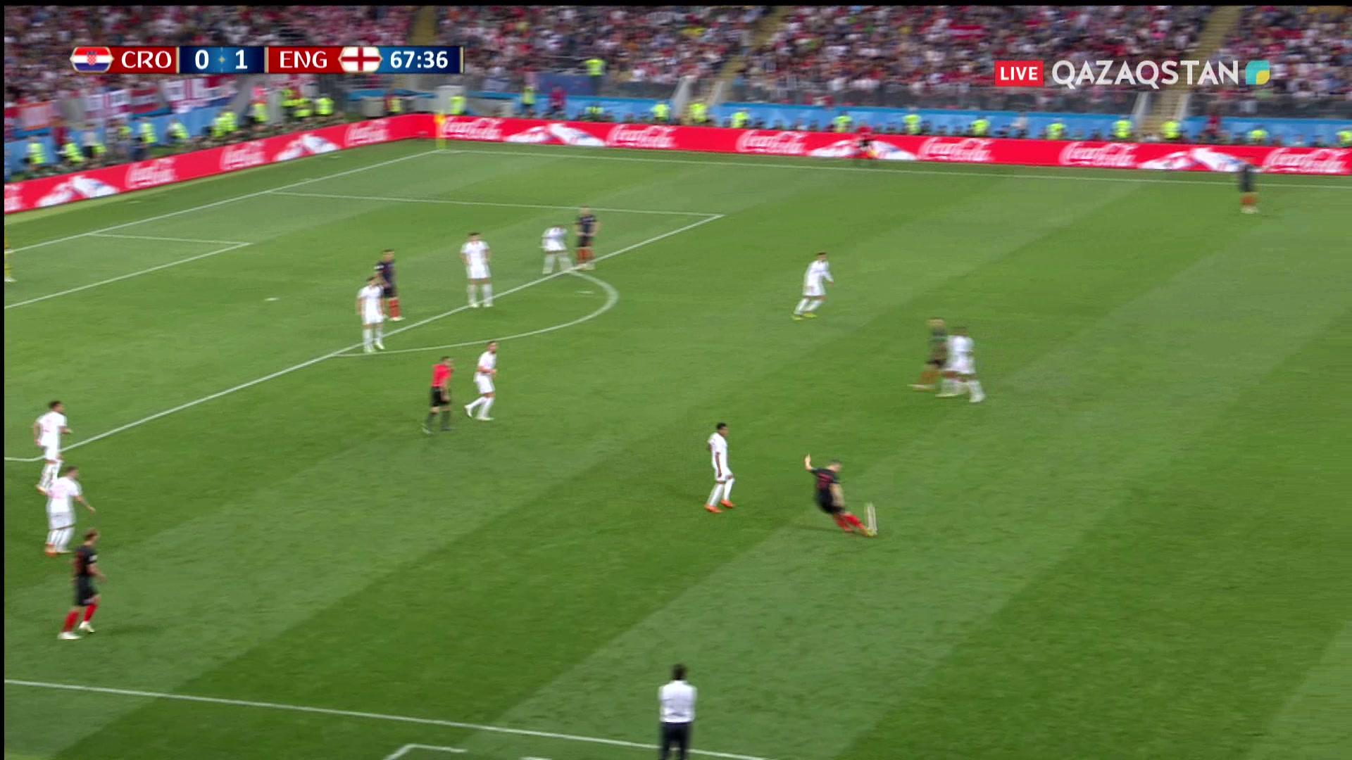 Хорватия – Англия – 1:1 | Әлем Чемпионаты 2018: 68' Иван Перишич ойындағы есепті теңестірді