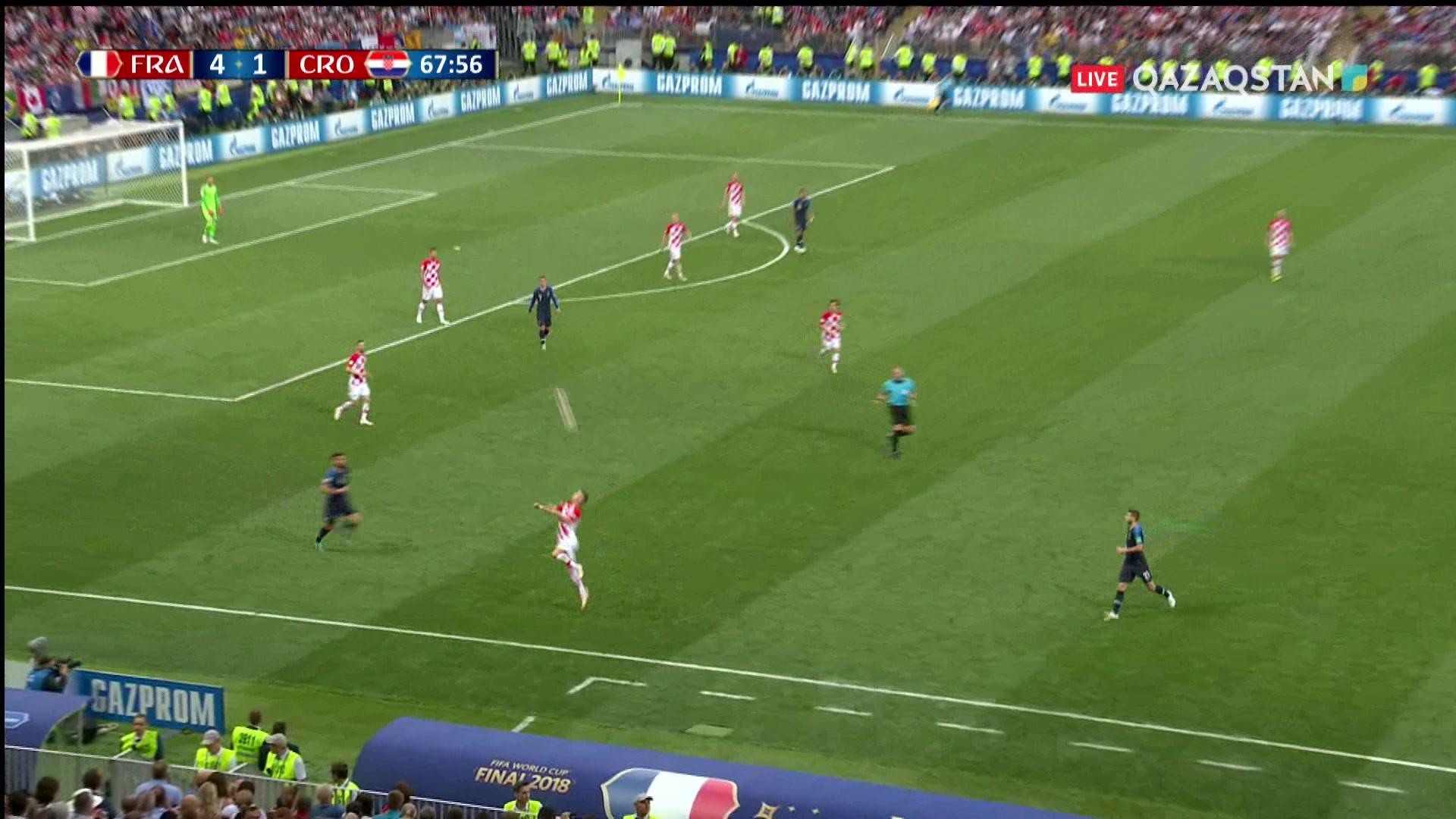 Франция – Хорватия - 4:2 | Әлем Чемпионаты 2018: Манджукич қақпашының қателігін ұтымды пайдаланды