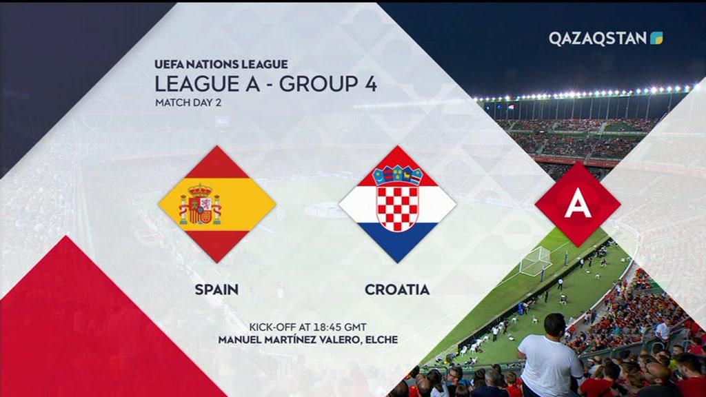 12.09.2018 - Футбол. УЕФА Ұлттар лигасы. Испания - Хорватия  (Толық нұсқа)