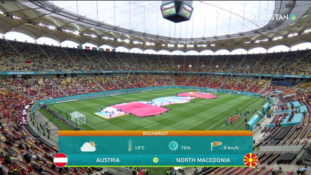 ФУТБОЛ. UEFA EURO 2020. АУСТРИЯ - СОЛТҮСТІК МАКЕДОНИЯ